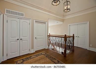 Elegant hallway in a luxury house