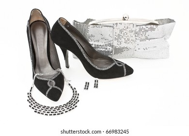 Elegant handbag and shoes for women