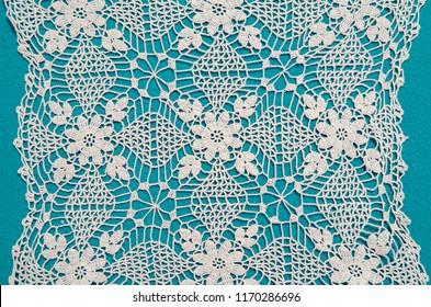 Elegant handmade crochet pattern / decorative table cloth