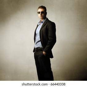 Elegant handsome man