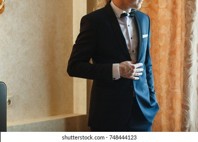 Elegant handsome man in suit.