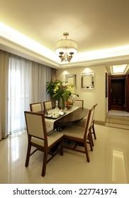 Elegant house interiors, Dining Room