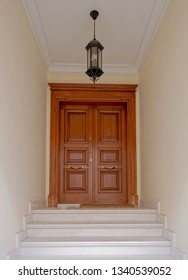 elegant house natural solid wooden double doors