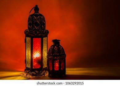 Elegant lantern with dark lights