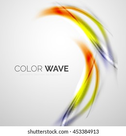 Elegant light smooth wave