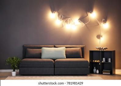 Living Room Night Images Stock Photos Vectors Shutterstock