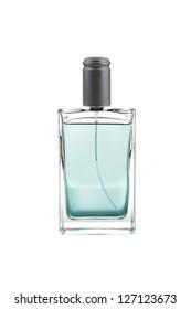 Elegant male perfume, isolated on white