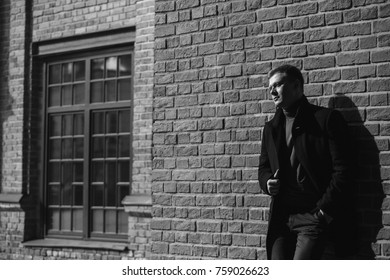 Elegant man in a coat
