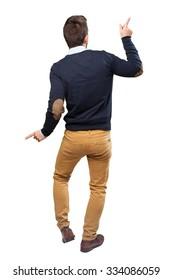 elegant man full body dancing