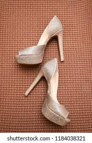 Elegant Pakistani Indian bridal high heels Sandals shoes