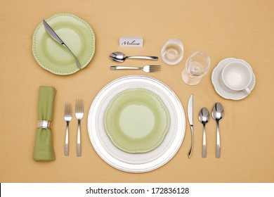 Elegant Place Setting with fine china.
