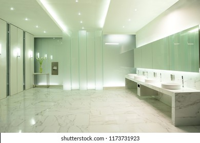 the elegant public restroom are setting in studio for shooting a movie