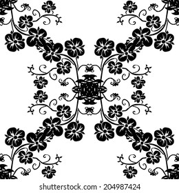 Elegant seamless pattern with hand drawn decorative flowers, design elements. Floral pattern for wedding invitations, greeting cards, scrapbooking, print, gift wrap, manufacturing.