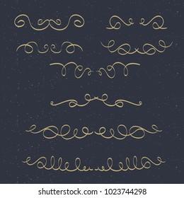 Elegant Set of Ornaments for Wedding, Invitation, Card.