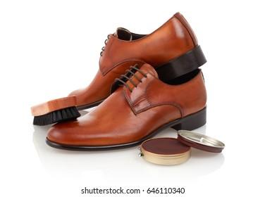 Elegant shoes and shoe cream