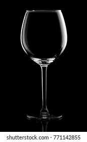 Elegant silhouette wine glass