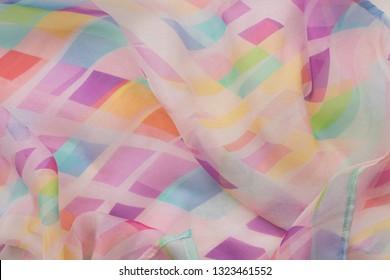 elegant silk scarf - fashion accessoire - studio shot from above
