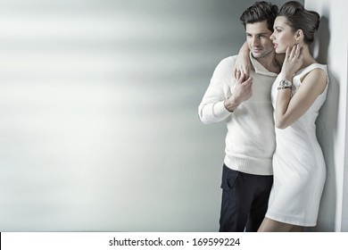 Elegant smiling couple