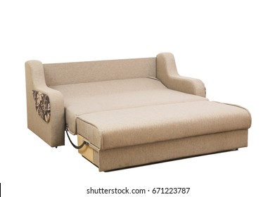 elegant sofa isolated on white background