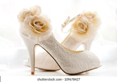 Elegant and stylish bridal shoes.