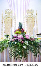 The elegant table with flowers flor wedding