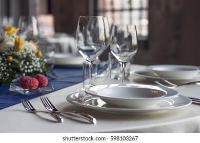 Elegant Table set for feast