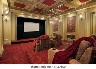 Elegant theater in mansion