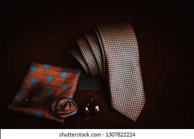elegant tie and cufflinks ,pocket square