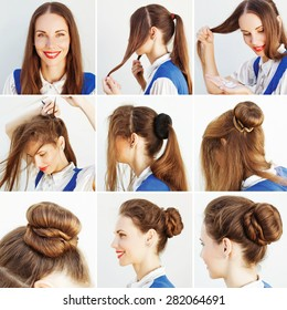 elegant updo tutorial for office by beauty blogger