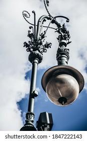 Elegant Victorian street lantern of cast iron, Berlin central street