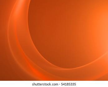 Elegant wavy orange-red design