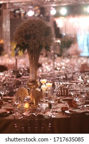 The elegant wedding table ready for guests