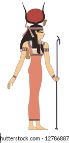elegant woman in ancient egypt , raster