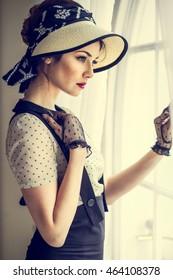 elegant woman in sixties fashion