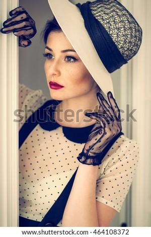 elegant woman in sixties
