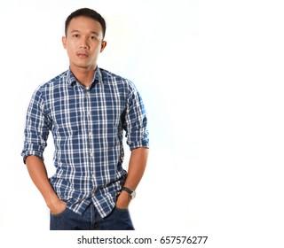 Elegant young asian man.