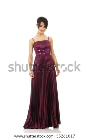 8acdf50ddff9 Elegant Young Woman Pink Dress Isolated Stock Photo (Edit Now ...
