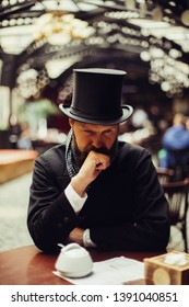 Elegantly dressed gentleman portrait in classic style