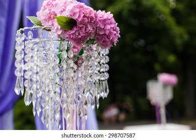 elegantly tasteful decorated with flowers and ribbons wedding arch, summer, lviv, vintage, glamor, park, landscape