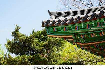 Element of the roof of an old Korean house.