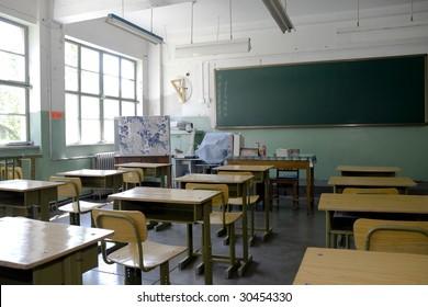 Elementary school classroom in China