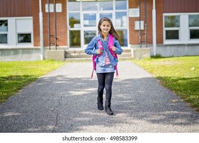 An elementary student going back to school