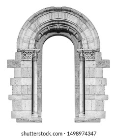 elements of architectural decorations of buildings, old doors with arches, windows, gates with bars, on the streets in Catalonia, public places. Black and white retro style photo.