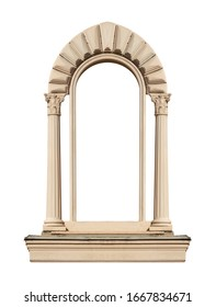 Elements of architectural decorations of buildings, old doors with arches, gates and doorknob, on the streets in Georgia, public places.