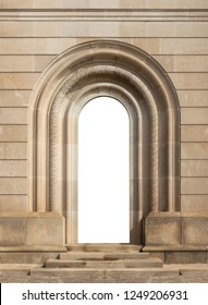 elements of architectural decorations of buildings, windows and arches on the streets in Catalonia, public places.