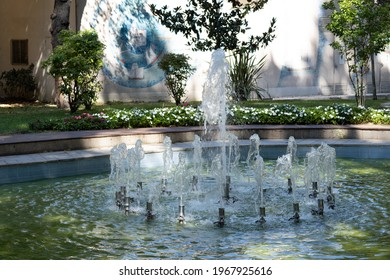Elements of architectural decorations, fountains and taps for drinking water, decorative fountains in reservoirs. In Istanbul, public places.