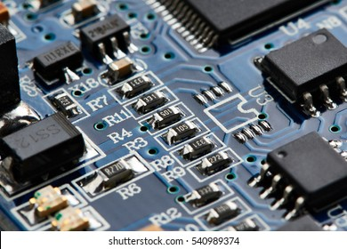 Elements of electronic circuit board with processor