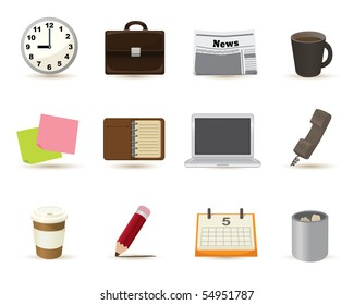 elements icons in business themed