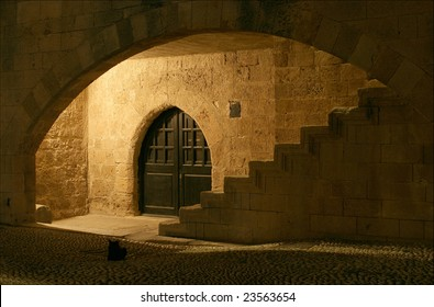 Elements of medieval architecture at Rhodes Island, Greece.