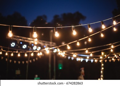 Elements of the wedding decor of the night ceremony